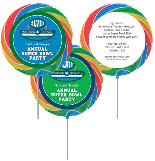2014 Super Bowl XLVIII Theme Custom Lollipop / A fun favor for the big game