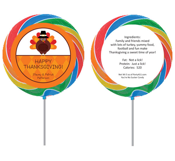 Thanksgiving Celebration Theme Lollipop