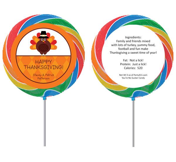 Thanksgiving Celebration Theme Lollipop