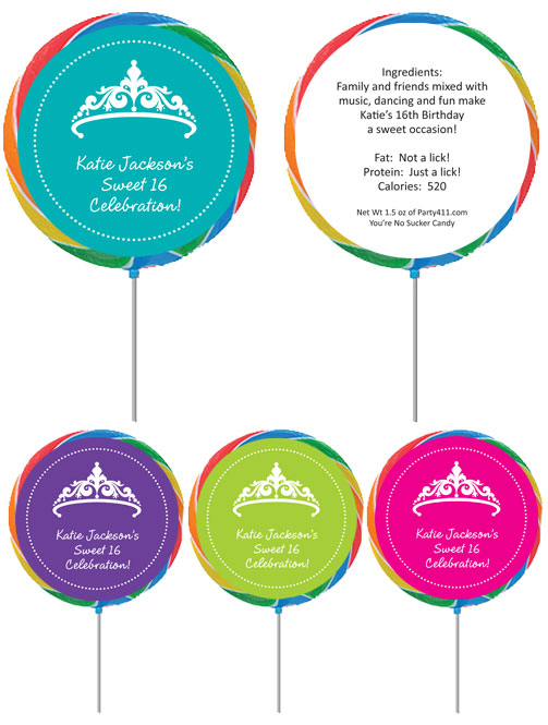 Tiara Theme Lollipop