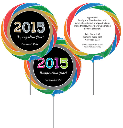 2015 New Year's Celebration Lollipop