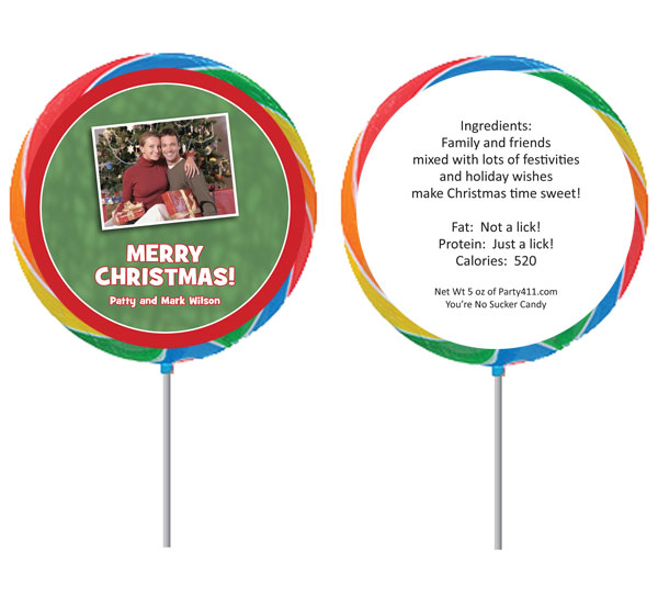 Christmas Photo Lollipop