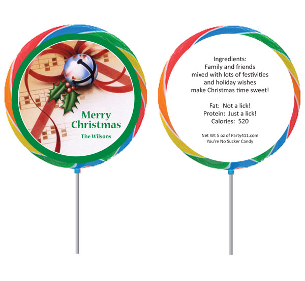 Christmas Bells Theme Lollipop
