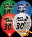 light up 30th birthday balloons