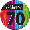 Rainbow Celebration 70th birthday party supplies