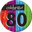 Rainbow Celebration 80th birthday party supplies