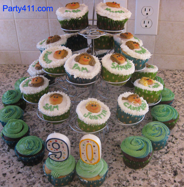 Cupcake Family Tree 90th Birthday Party Favors