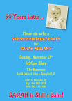 personalized fiftieth invitation