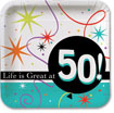 Life is Great at 50 party supplies