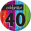 Rainbow Celebration 40th birthdayparty supplies