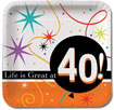 Life is Great at 40 party supplies