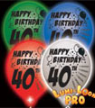 light up 40th birthday balloons