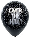black decorations for over the hill birthday
