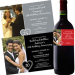 personalized anniversary invitations and party favors