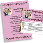 Photo Hearts Custom Anniversary Invitations and More