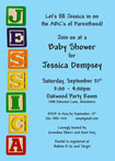 personalized ABC baby shower invitation