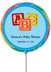 baby showerfavor, custom lollopop