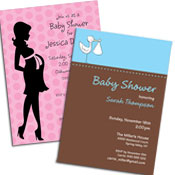 Baby shower invitations, party favors and decorations