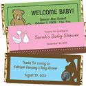 Baby shower candy bar favors, baby announcement candy bars