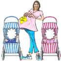 Baby shower lifesize photo and caricature cutouts