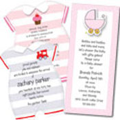 Die Cut baby shower announcements and invitations