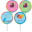 Baby shower lollipop party favors