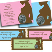 Ultrasound photo baby shower invitations and party favors