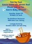 personalized noah's ark invitation