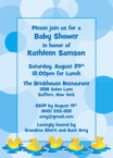 personalized ducky baby shower invitation