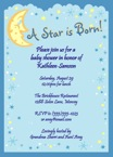 personalized star theme baby shower invitations