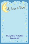 personalized star theme baby shower sign in board