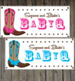 Western baby shower party banners