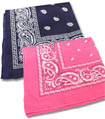 pink and blue bandanas for baby shower