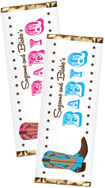 personalized western baby shower candy bar wrapper