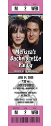 photo ticket invitation for a bachelorette party