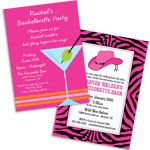 See all bachelorette theme invitations and favors