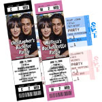 Backstage pass invitations and bachelorette and bachelor party ticket invitations