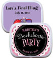 bachelorette party mint and candy tin