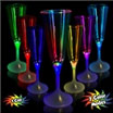 LED light up champagne glass for a spa party