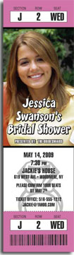 bridal shower tickert invitation with photo