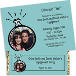 Engagement ring theme bachelorette theme invitations and favors