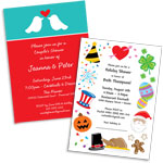 See all bridal shower theme invitations and favors