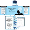 Bridal Shower Party theme water labels