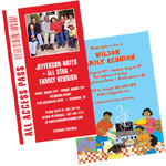 Family reunion theme invitations and favors