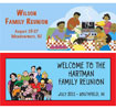 custom family reunion party banner