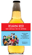 family reunion beer bottle labels