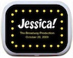 personalized broadway theme mint and candy tin