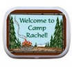 personalized camping theme mint tin