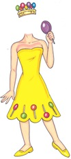 princess lolly life size cutout