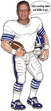 life size football player cutout